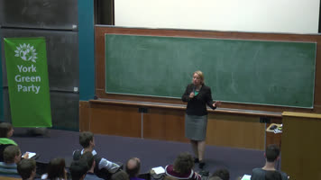 Green Party - Talk with Natalie Bennett